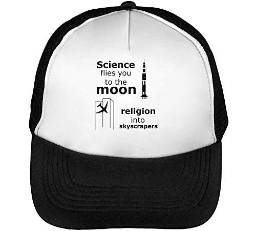 Science Flies You To The Moon Religion Into Scyscrapers Gorras Hombre Snapback Beisbol Negro Blanco