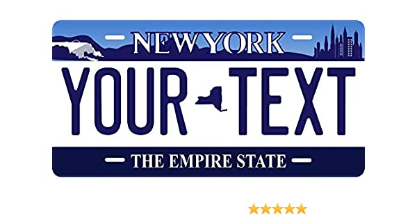 New York 2001 License Plate Personalized Custom Car Auto Bike Motorcycle Moped