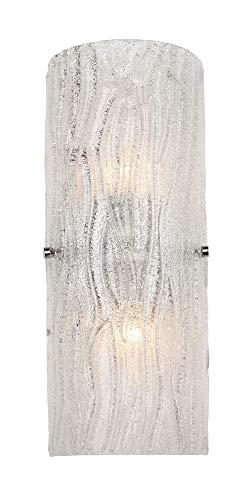 Varaluz AC1102 Brilliance 2-Light Bath Light - Chrome Finish with Bright Ice Glass ()