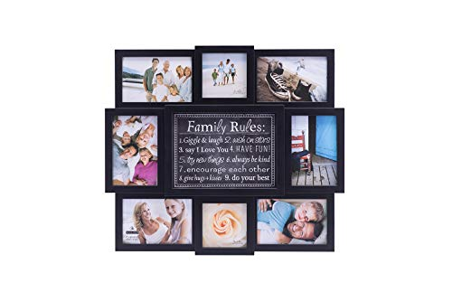 Malden 8 Opening Picture Frame, Black