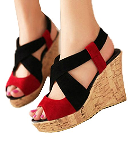 Heel Multi Color Wedge Shoes - 7