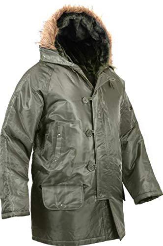 Jacket Cold Weather N-3B Military Snorkel Parka Jacket Long N3B Winter Coat Get 1 Pcs (Medium, Sage Green)