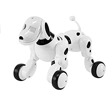 Interactive Puppy Dog New Generation Robot Toy Hi Tech Wireless Remote Control For Kids White