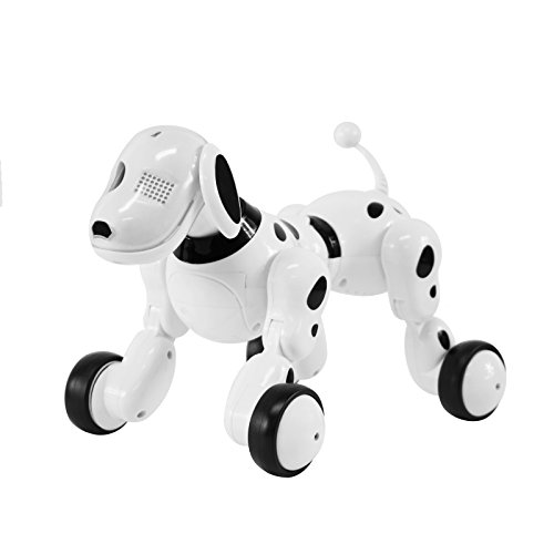 Charming Interactive Pet Canine New Technology Robotic Toy Hello-Tech Wi-fi Distant Management For Youngsters White Coloured Quick On Wheels  Evaluations