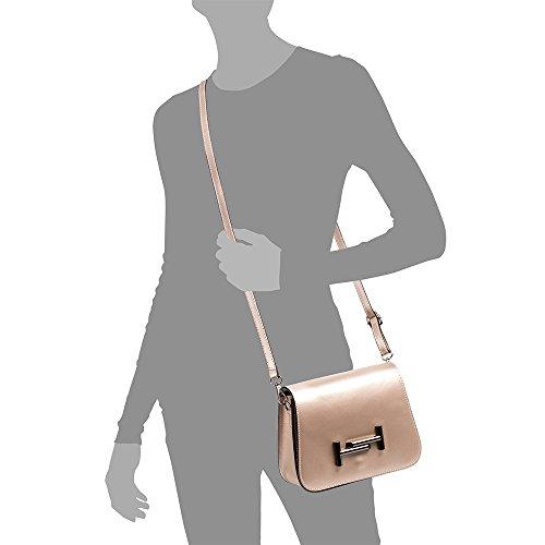 donna Borsa in PELLE donna cm Ruga pelle ITALIANA Colore design tracolla Chiusura 22x17x8 Rose Made Borsa Borsa a ITALY esclusivo Borsa lusso mano VERA ARTEGIANI di FIRENZE Oro MARRONE di cuoio vera p1XEES