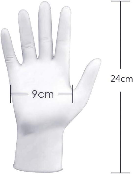 Inawayls 100PCS Handschuh rei/ßfest dehnbar Einweghandschuh puderfrei Einmal-Handschuh Top-Untersuchungshandschuh