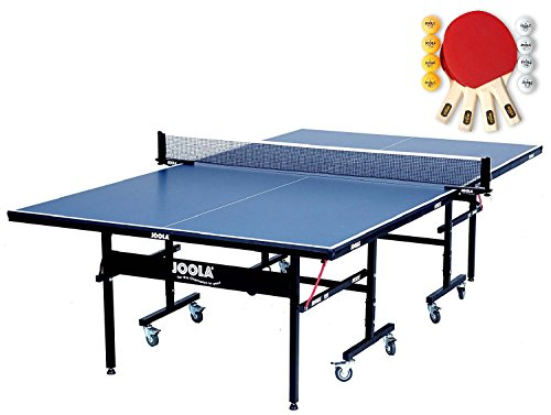 Joola Usa Inside Table Tennis Table With Racket Set Bundle