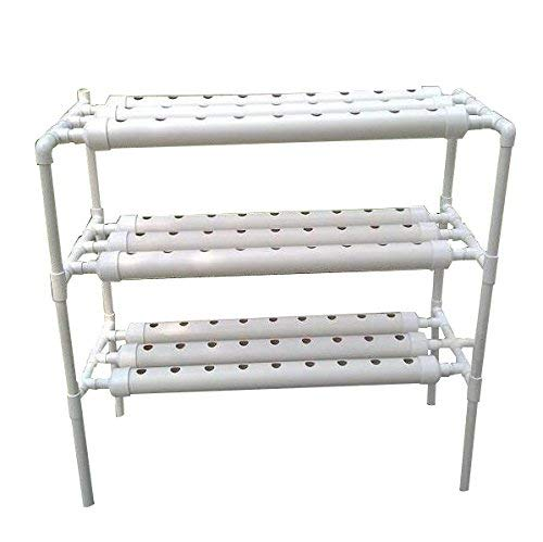 ❥ INTBUYING Hydroponic Grow Kit Hydroponic Growing System for Leafy Vegetables 10 Pipes 3 Layers 90 Plant Sites Hydroponic System 6
