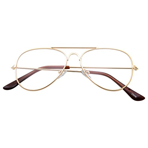 47872c18ef Kids Fake Aviator Eye Glasses Clear Lens Children s Non Prescription (Age 3- 10)