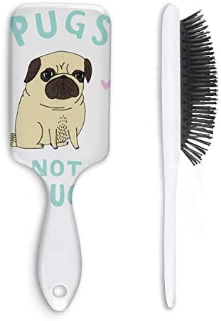 Pugs Not Drugs Unisex Hair Brushes Portable Fiber Anti Static Curly Hair Magic Hair Comb Cat Hair Comb