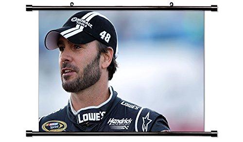 Jimmie Johnson NASCAR Race Driverファブリック壁スクロールポスター( B00V730F8Q 32 x 21 x 32 )インチ B00V730F8Q, ベティーロード 【腕時計専門店】:3378b6db --- gamenavi.club