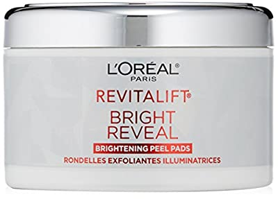 L'Oreal Paris Revitalift Bright Reveal Peel Pads, 30 Pre-Soaked Pads