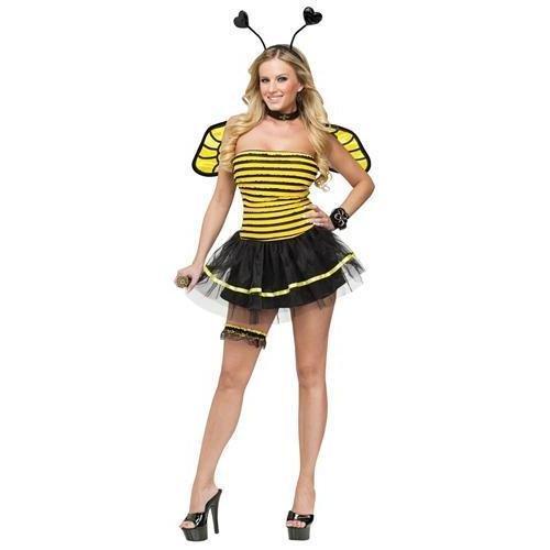 FunWorld Busy Bee, Black/Yellow, Medium/Large 10-14 Costume]()
