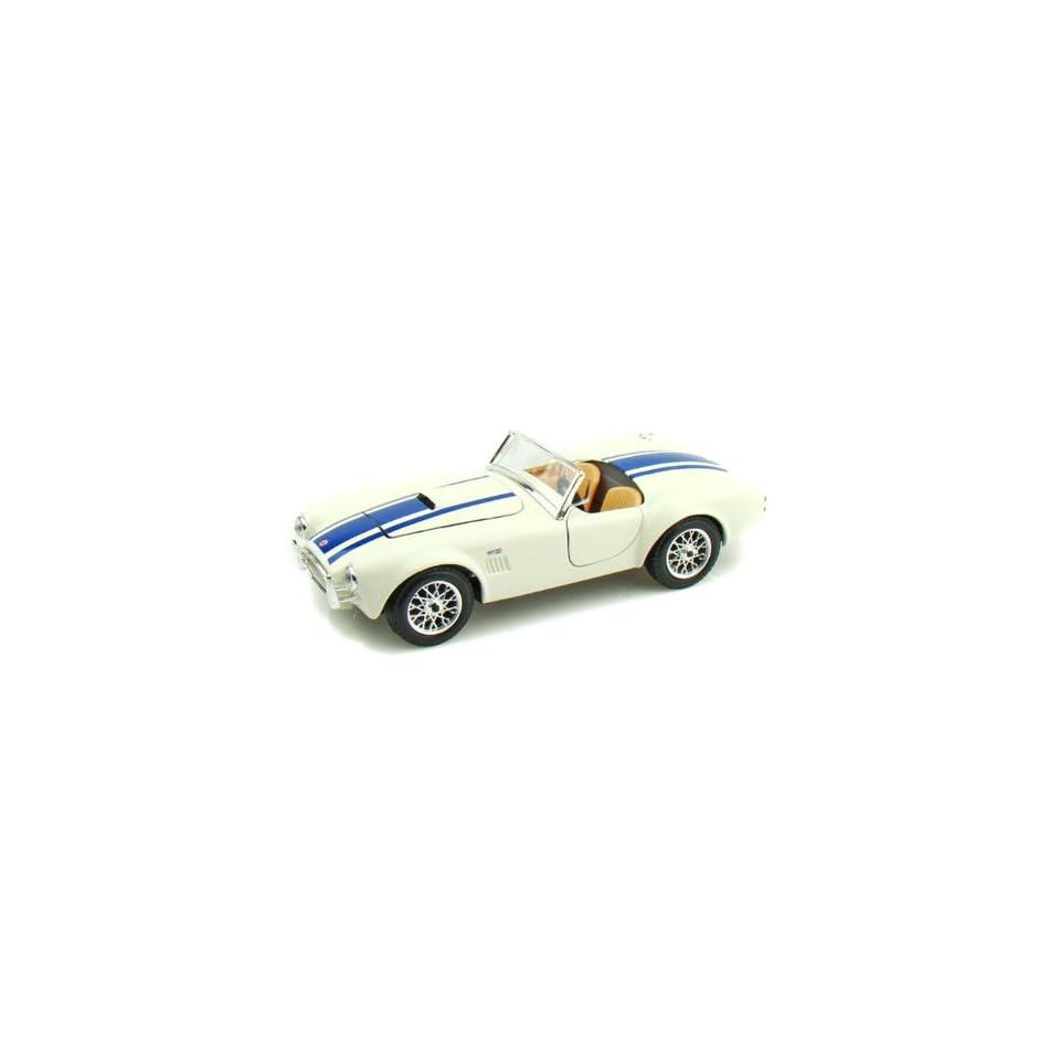 1965 Ford Shelby Cobra 427 1/24 White w/Blue Stripes