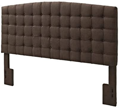 King Upholstered Headboard 54'' H x 80.5'' W x 4.75'' D in.-Chocolate brown