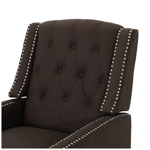 Farmhouse Accent Chairs Christopher Knight Home Izidro Traditional Fabric Recliner, Coffee / Dark Brown farmhouse accent chairs