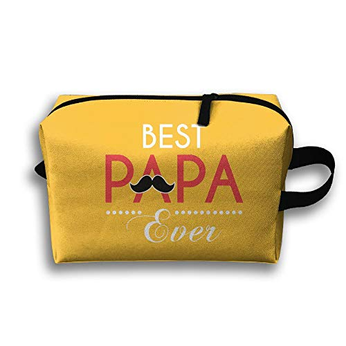 Best Papa Ever Cosmetic Bags Makeup Organizer Bag