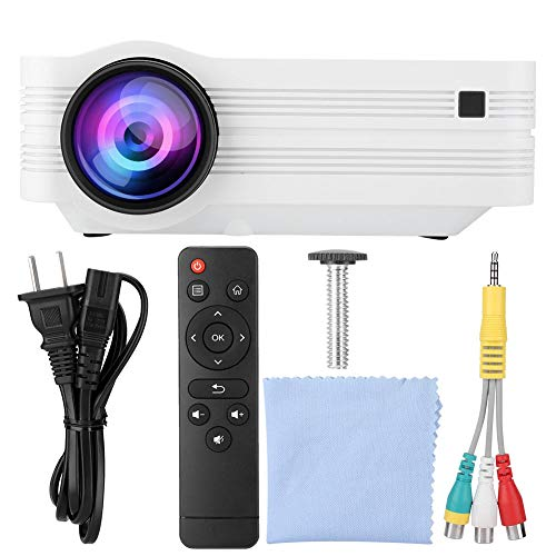 VideoProjector Full HD 1920x1080 Projector for Android 6.0, WiFi Bluetooth LED TV Video Projector Beamer Sound Stereo LED Projector for Home Theater Video Games Business Presentation(US) from fo sa