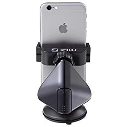 Zilu CM001 Universal Car Phone Mount, (Cell Phone Holder), Car Accessories For IPhone Samsung Galaxy Note and More -Black