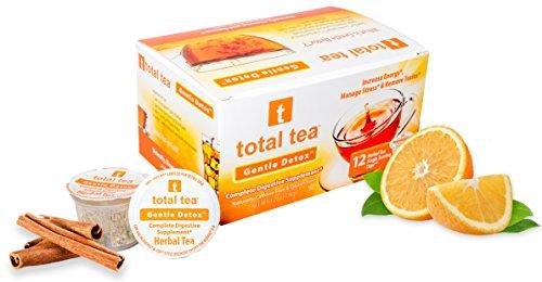 Total Tea Detox Tea Kcup | 12 count | Herbal Tea Supplement with Echinacea | Keurig 1.0 Only