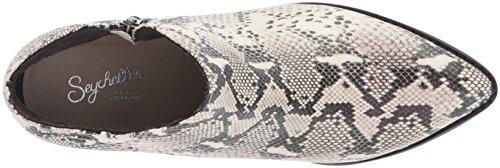 Stivaletto Alla Caviglia Delle Donne Delle Seychelles Pitone Nero / Bianco