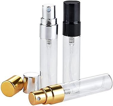 Bluelover 5Ml Vacío Botellas De Perfume De Vidrio Recargable De Aluminio Atomizador Contenedor Portátil - Oro