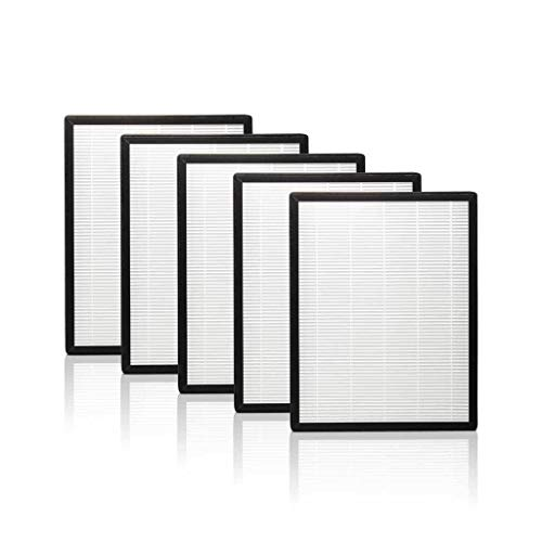 Alen Flex HEPA-Silver-Carbon Replacement Filter to Remove Allergens, Asthma, and Bacteria (FL40-Silver-Carbon-5, 5-Pack)
