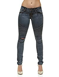 V.I.P.JEANS Womens Biker Jeans