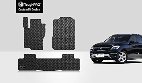 TOUGHPRO Floor Mat Accessories Set (Front Row + 2nd Row) Compatible with Mercedes-Benz GLE - All Weather - Heavy Duty - (Made in USA) - Black Rubber - 2016, 2017, 2018, 2019