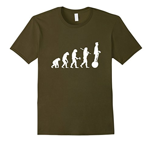 Men's Funny Evolution T-Shirt for Geeks, Nerds and Fans of Gadgets Large Olive
