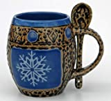 Snowflake Mug with Spoon Mug in Blue