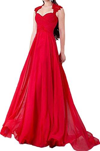 Damen Modisch Ivydressing Festkleid Promkleid A Herz Linie Rot Abendkleid Partykleid Ausschnitt A1aZwq