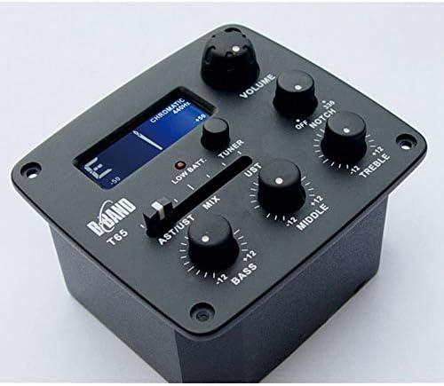 accesorios de guitarra B-Band T65 Pickup micr/ófono Eq Afinador electr/ónico para guitarra Fransande