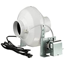 Vents-US Dryer Vent Booster Fan 4 inch w/ Power Cord and Pressure Switch 162 CFM VK 100 PS