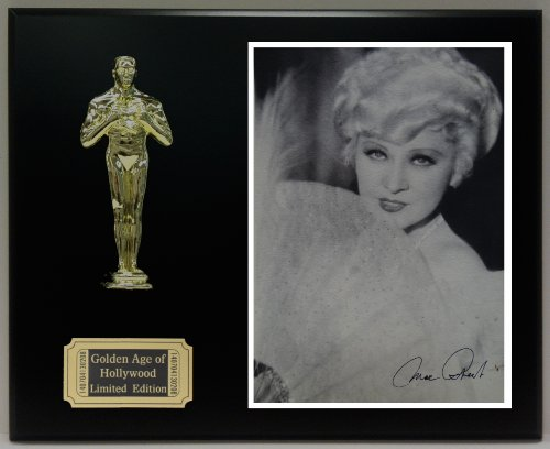 Mae West Reproduction Autographed 8 x 10 Photo LTD Edition Oscar Movie Display