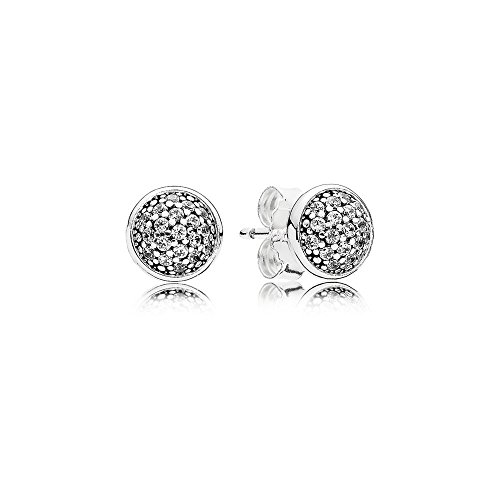 PANDORA Dazzling Droplets Stud Earrings, Sterling Silver, Clear Cubic Zirconia, One Size