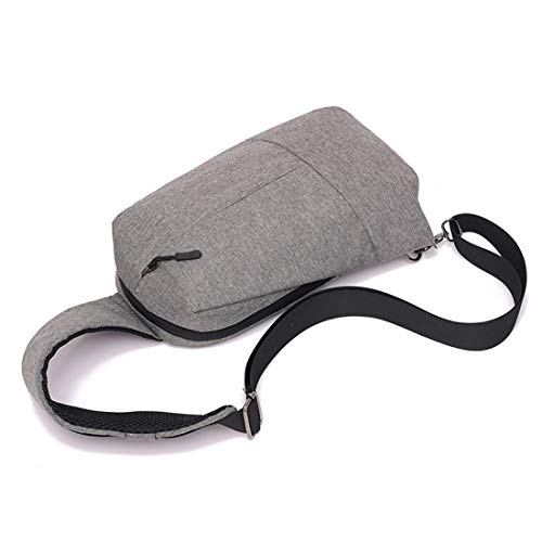 À Gray Sport Extérieur color Pour Bandoulière Sac Shizheshop De En Diagonal Toile Gray Hommes S57qwvx