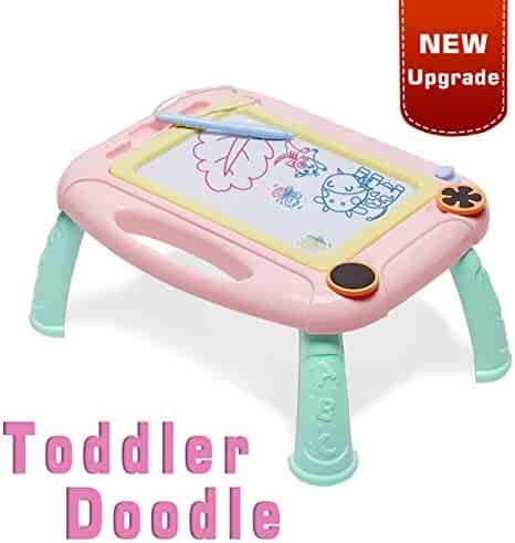 LODBY Toys for 1 2 3 4 Year Old Girls Gifts, Kids Magnetic Drawing Board for Girls Birthday Gifts for 1 2 3 4 Year Old Girls Gifts Age 1-4,Magna Doodle Drawing Pad for Toddler Girls Toys Age 1-4
