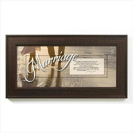 Amazon.com: Marriage Prayer Words of Grace 8 x 16 Wood Wall Art ...