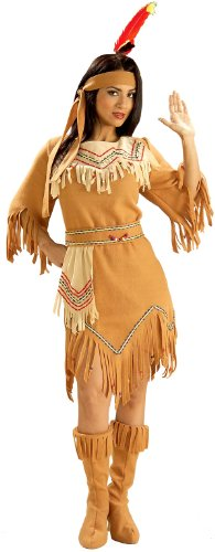 Pocahontas Costumes For Adults (Forum Novelties Women's Adult Native American Maiden Costume, Multi Colored, One Size)
