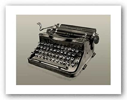 Bruce Teleky - Póster de máquina de escribir antigua Remington Rand