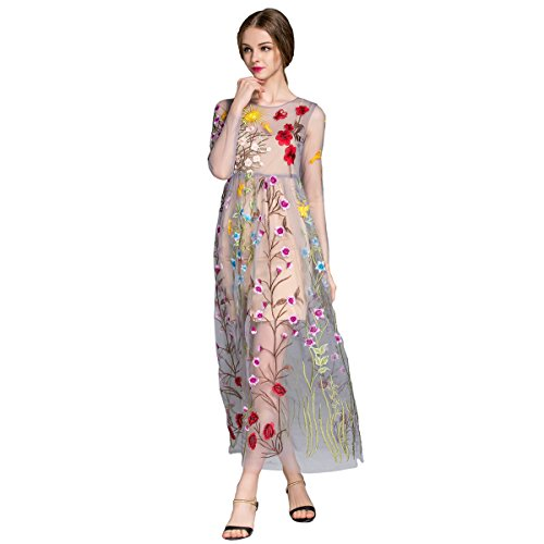 ANRABESS Womens Floral Embroidered Tulle product image