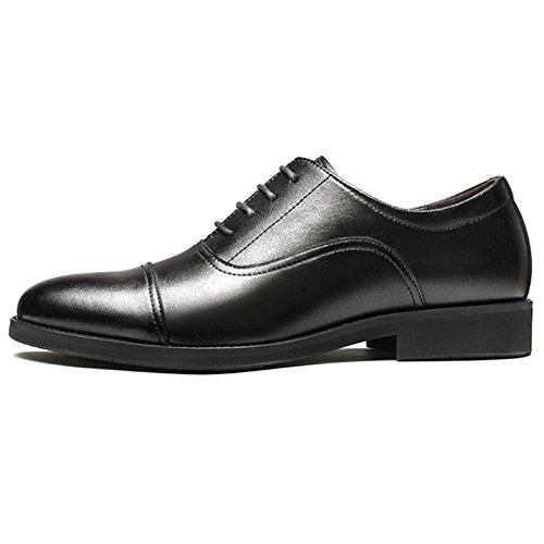 Hochzeit Mens Spitz Zehenschuhe Leder Derby Schnürschuhe Business Classic Flat Mit Tuxedo Oxford Schuhe Black