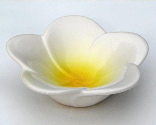 Melia Ceramic Bowl - Plumeria Flower Bowl (Yellow)