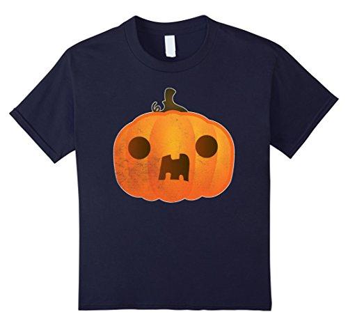 Homemade Halloween Pumpkin Costumes Kids (Kids Boo ! Pumpkin Funny Halloween Costume TShirt Trick Or Treat 8 Navy)