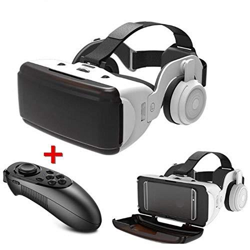 ASDFG OriginalVRvirtual reality3Dglasses case stereoVRGoogle headset helmetforIOS Androidsmartphone, Bluetooth joystick