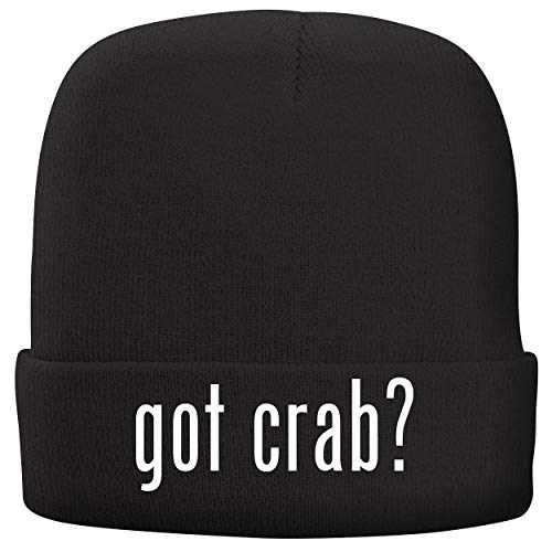 (BH Cool Designs got Crab? - Adult Comfortable Fleece Lined Beanie, Black)