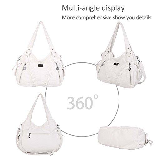 Casual amp; NICOLE Bag Shoulder Hobo Handbag Crossbody DORIS White Woman ROqw8dCOx