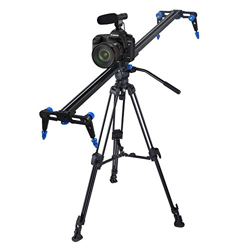 M2 Outlet 40'' Aluminum Alloy DSLR Video DV Track Dolly Rail w/ Stop Break Camera Slider by M2 Outlet