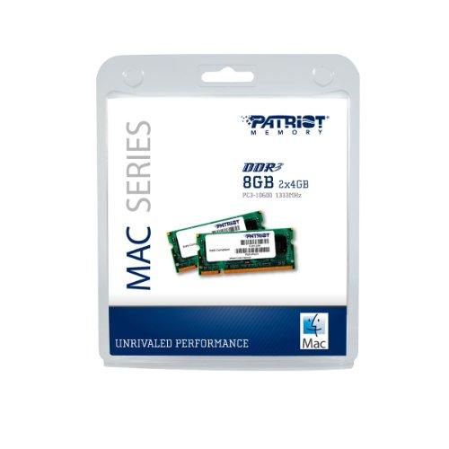 Patriot Mac Series 8GB Apple SODIMM Kit (2X4GB) DDR3 1333 PC3 10600 204-Pin SO-DIMM PSA38G1333SK by Patriot (Image #3)